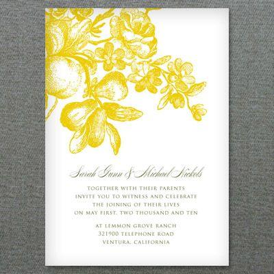 Lemon Love Wedding Invitation Template Invitation