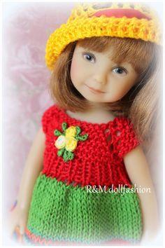 "R&MDOLLFASHION SALE handknit set for Effner Kish Madame Alexander 7.5-8"" doll"