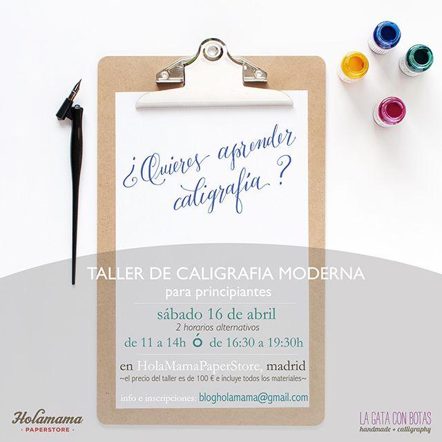 Talleres de caligrafía moderna, HolaMamaPaperStore Madrid - Abril 2016