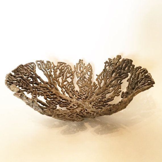 Bronze coral bowl/vessel by kirkmcguiresculpture. Explore more products on http://kirkmcguiresculpture.etsy.com
