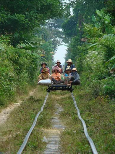 Bamboo Train! http://www.greeneratravel.com/ - to read later: bamboo train in Cambodia
