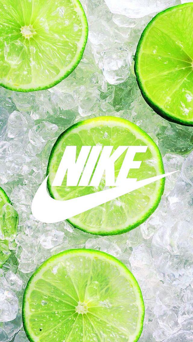 Fond d'ecran Nike /// Wallpaper // Citron vert Glace // Ete fraicheur summer