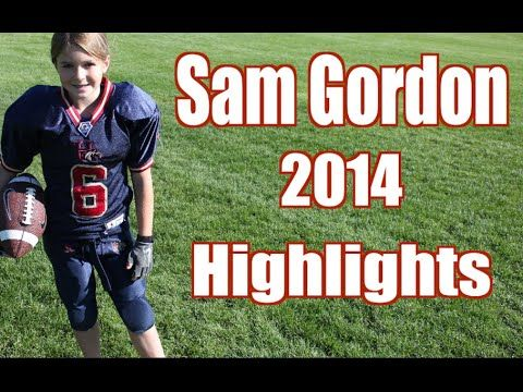 11 years old and check out her skills Unbelievable Girl Football Player Highlights!!! Sam Gordon 2014