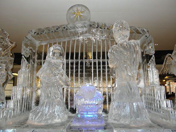 Atlanta Ice Sculptures Nativity Scene On