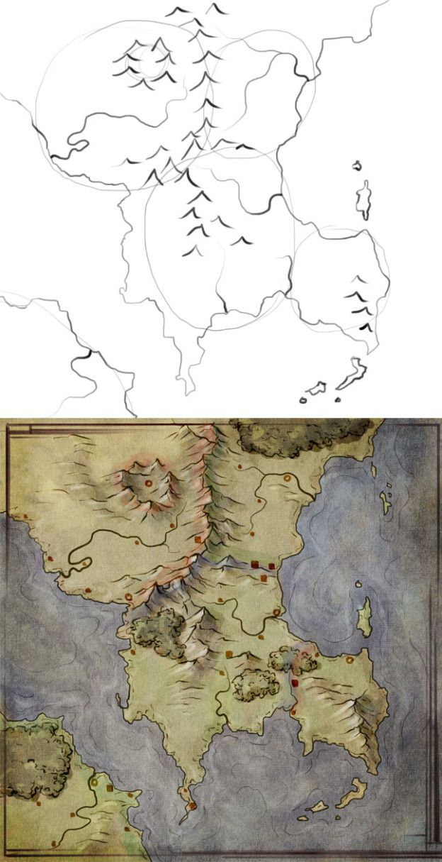 374 best fantasy maps images on pinterest maps cartography building a map can be a great way to build a world this tutorial walks gumiabroncs Images