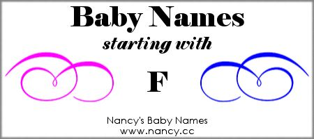 F Names For Babies Baby Names Helpful Info Pinterest Baby