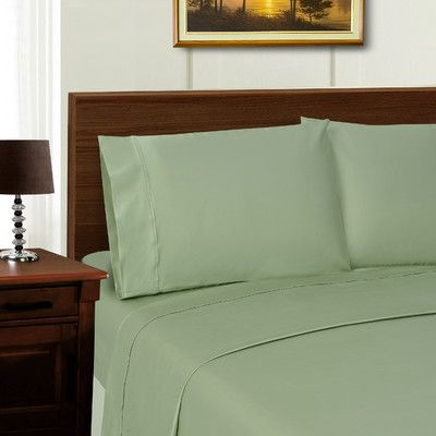 Simple Luxury Superior 600 Thread Count Sheet Set Color: Sage, Size: California King