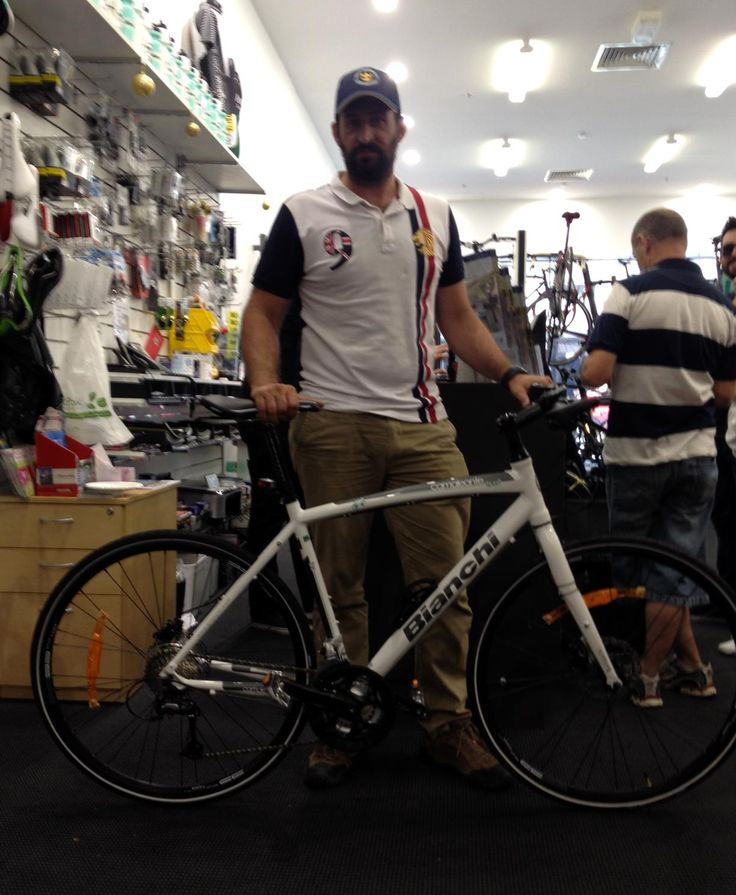 Myles and his Bianchi Camaleonte Sport 3