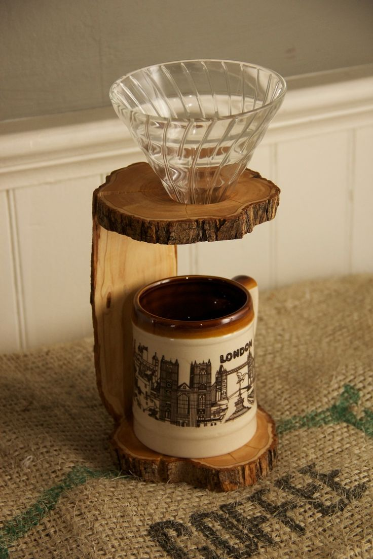 Olive V60 Pour-Over Stand (Coffee Drip Stand) // Redemption Woodwork