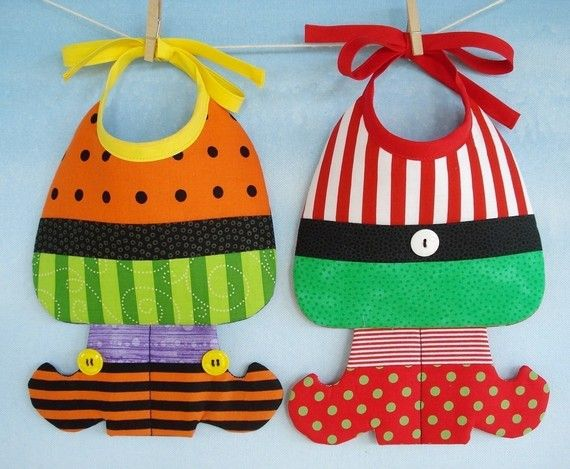 Witch and Elf Baby Bib Sewing Pattern PDF by preciouspatterns