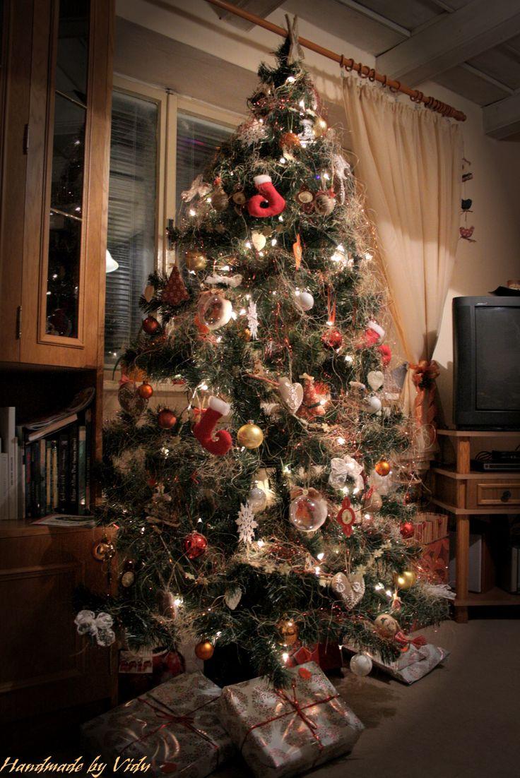 Christmas tree with handmade decorations