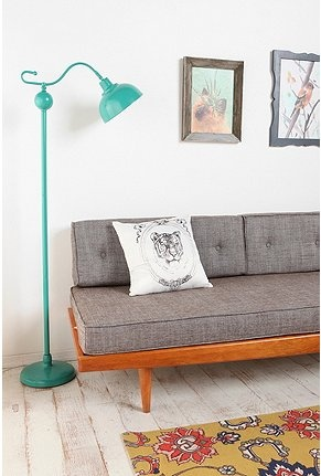 Oh the sofa, swoon: Floor Lamps, Grey Couch, Vintage Lamps, Urban Outfitters, Living Rooms, Stella Floors, White Rooms, Floors Lamps, Sofas Pillows