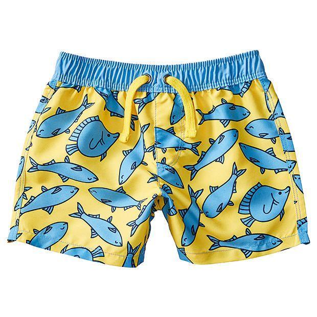 Baby Fish Print Boardshorts