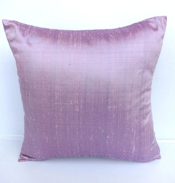 Lavender silk pillow cover- 18 inch throw pillow- New arrival- PASTEL SHADES