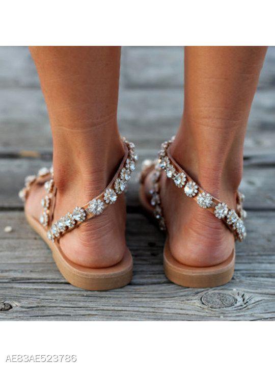 5f878e354 Bohemian Flat Peep Toe Casual Date Flat Sandals - berrylook.com ...