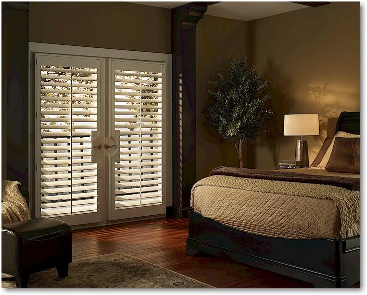 Hunter Douglas Palm Beach custom shutters are available with a cut-out for French doors & 93 best Hunter Douglas Shutters images on Pinterest   Hunter ... pezcame.com
