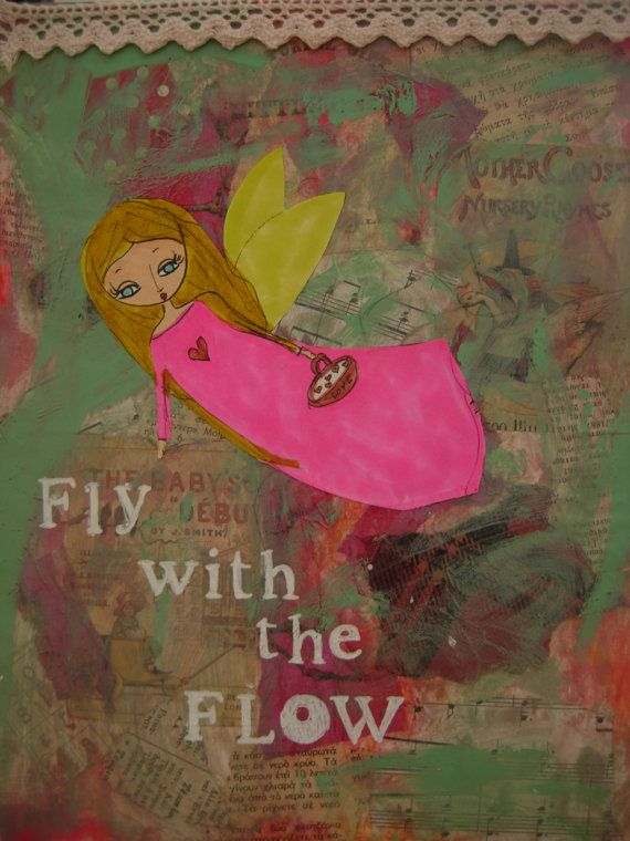 Fly with the Flow  art print/reproduction of the by eltsamp, $20.00