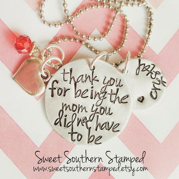 :{:Thank You For Being The Mom You Didnt Have To Be - Step-Mom Necklace :}:  This listing is for 1 (one) Thank You For Being The Mom You