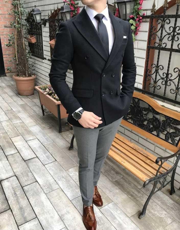 5fc372864e2be Terziademaltun - İtalyan stil erkek slim fit kadife kaşe blazer siyah tek  ceket T3083 (1)