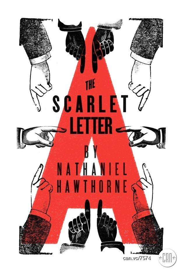 The Scarlet Letter | 25 Beautifully Redesigned Classic Book Covers