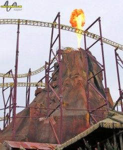 Volcano Coaster Causes UFO Over Kings Dominion - The Coaster Critic
