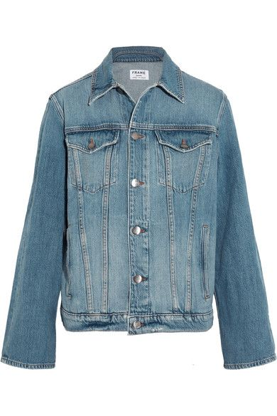 FRAME - Le Jacket Oversized Denim Jacket - Blue - x small
