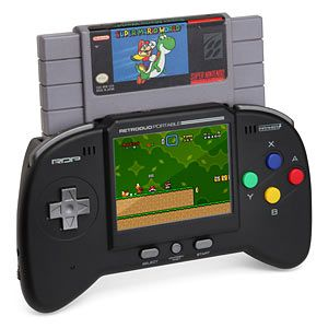 A retro duo portable NES/SNES system. Whaaaaaat?!! So you're saying all those dusty 16-bit SNES games I still have at my parents, I can bring on road trips?! Oh and get this, it comes with two controllers, rechargeable lithium-ion battery, and an extension to play on big screens too. I think I've died and gone to heaven.