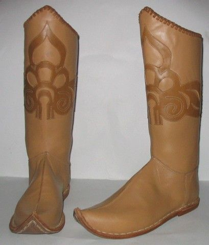 Sewed lily-patterned boots of the age of the Hungarian conquest