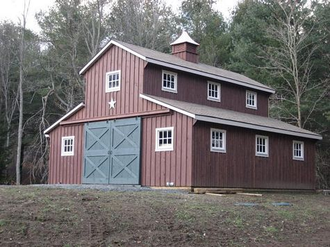 75 best images about barn on pinterest horse farms for Barn style garage plans for free
