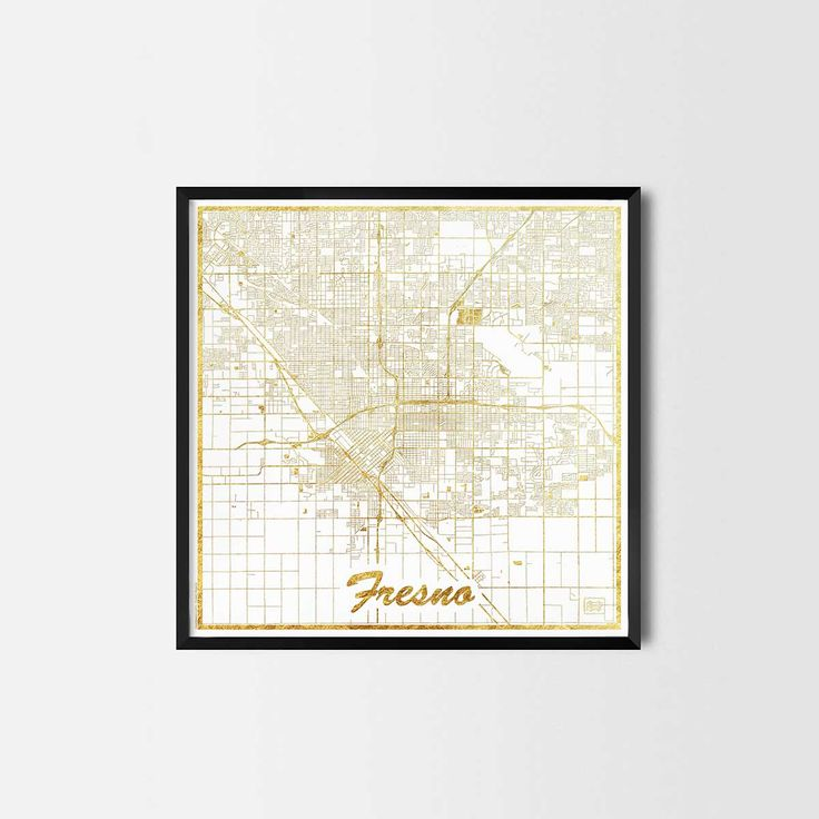 Fresno map posters are high quality map art prints of a great city. Perfect for the house and office or as a gift for a friend. Interior gift travel
