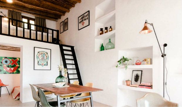 200-Year-Old Stable Transformed Into Industrial Cottage in Ibiza