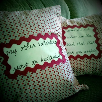 Anti Valentines Day Throw Pillows HIGH Larious Crap