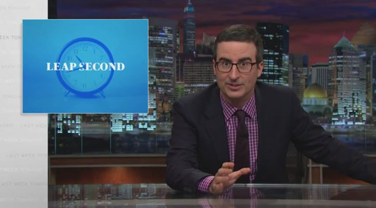 John Oliver Offers Up Amusing Videos to Watch During the Upcoming Leap Second