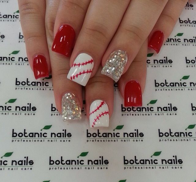 Love these baseball nails
