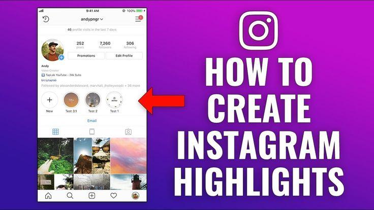 How to create instagram highlights instagram bio
