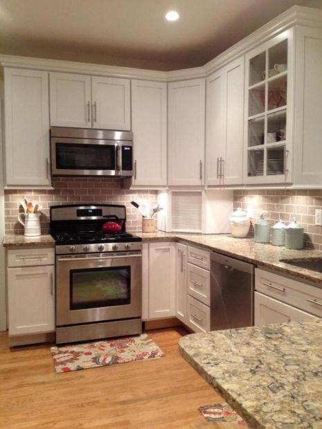 Cambria Bradshaw Countertop White Cabinets Kitchen