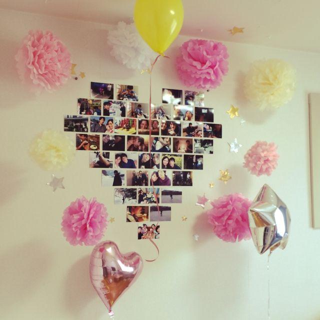 壁 天井 風船 誕生日飾り付け 100均 一人暮らし 賃貸 などの