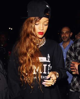 rihanna in homies south central sweater / streetwear / hermes / celebrity style