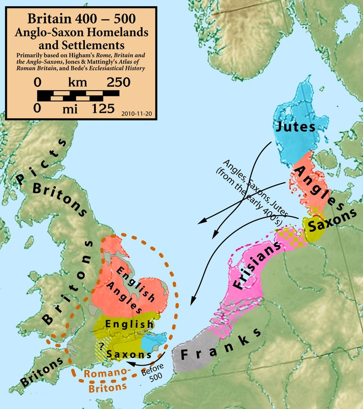 The Anglo-Saxon settlement of Britain was a consequence of the migration of Germanic peoples from continental Germania during the Early Middle Ages, after the demise of Roman rule in the 5th century. These peoples are traditionally divided into Angles, Saxons and Jutes, but research conducted in the early 20th century suggests that a wide range of Germanic peoples from the North Sea coasts of Frisia, Lower Saxony, and Jutland may have moved to Britain in this era.