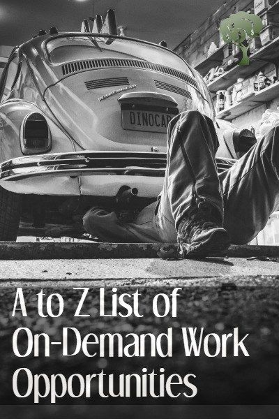 Here is an A to Z list of websites catering to the on-demand economy.