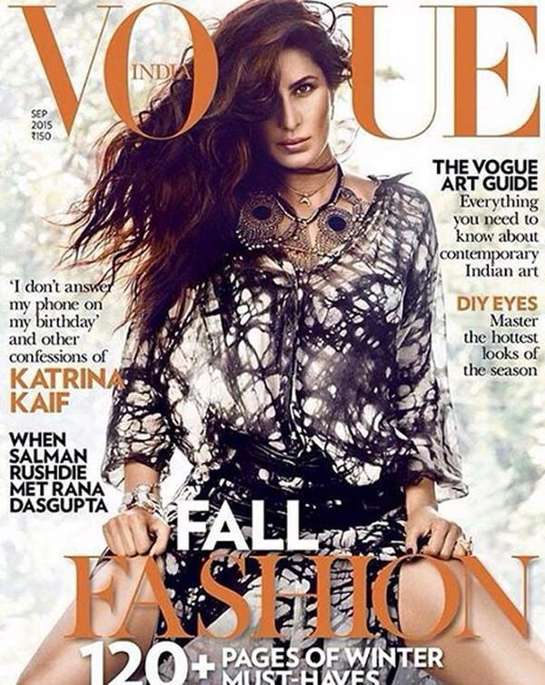 #KatrinaKaif on the cover photo of #VogueIndia. Find more here:  http://www.bollywoodlife.com/
