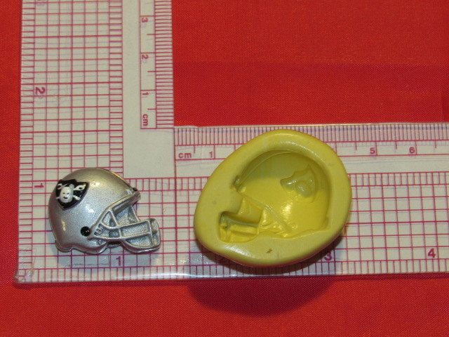 NFL Football Oakland Raiders Helmet Silicone Push Mold 413 Chocolate Candy wax by LobsterTailMolds on Etsy