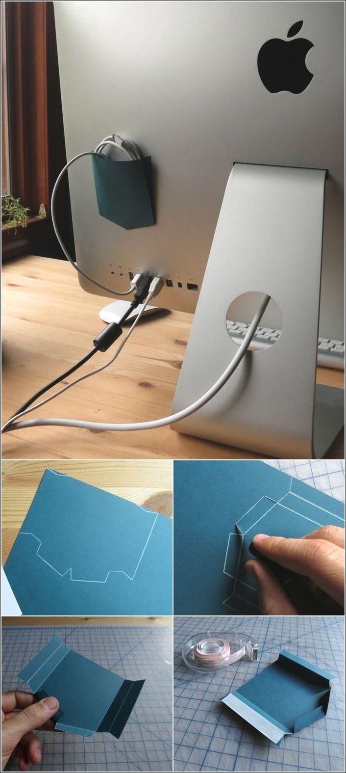 Paper Pocket for Loose Wires