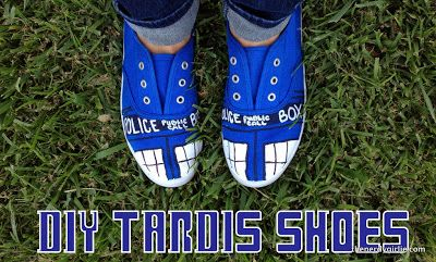 The Nerdy Girlie: Nerd Crafts: TARDIS Shoes #DIY #DoctorWho