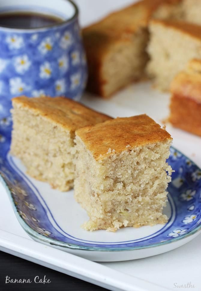 Banana cake recipe - Delicious, soft & moist cake recipe with step by step photos. This is one of our favorite cakes made whenever i have ripe bananas