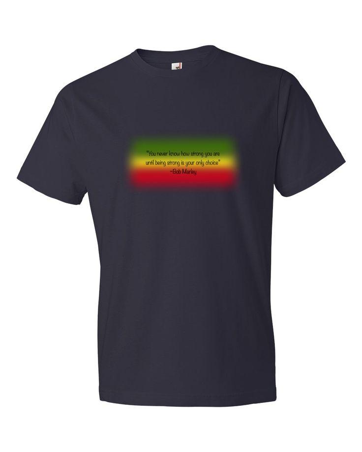 Men's Bob Marley Strong T-Shirt - Find more Fun Tees at KiwiVineTees.com