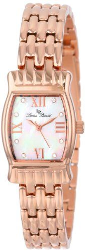 Women's Wrist Watches - Lucien Piccard Womens LP12384RG02MOP Alca White MotherOfPearl Dial Rose Gold IonPlated Stainless Steel Watch -- Want additional info? Click on the image.