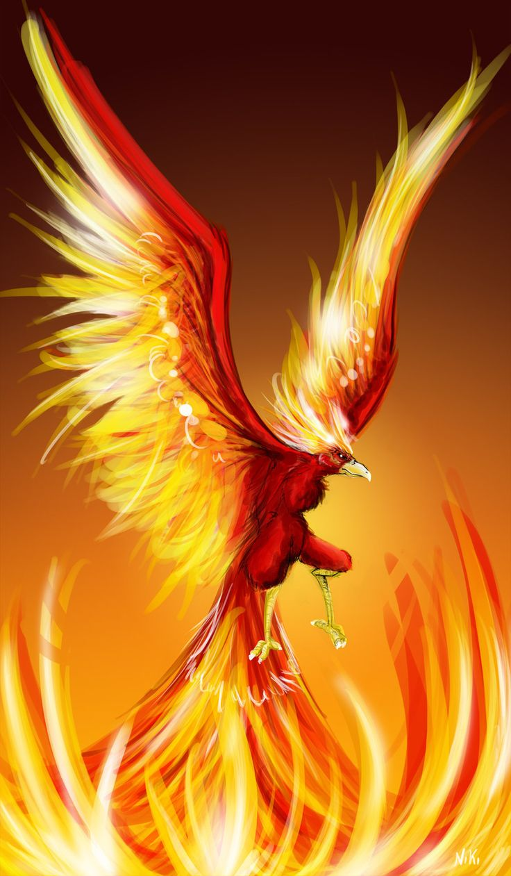 Rising Phoenix Bird-30 beautiful phoenix artworks, 3d and oil paintings for inspiration.