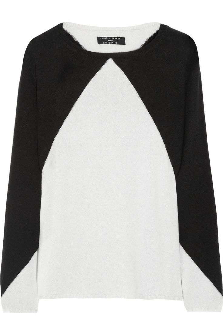 Chinti and Parker | + Patternity triangle cashmere sweater | NET-A-PORTER.COM