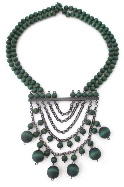 aarikka, Finland - vintage large kinetic bib necklace